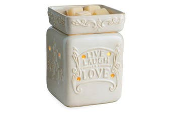 (Cream) - Candle Warmers Etc. Illumination Candle Warmer, Live, Love, Laugh