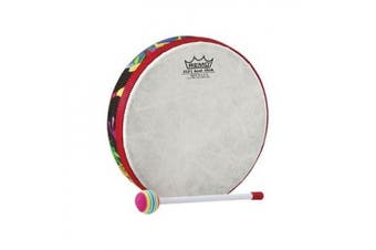 REMO Drum, KIDS PERCUSSION®, Hand Drum, 15cm Diameter, 3.2cm Depth, Fabric Rain Forest