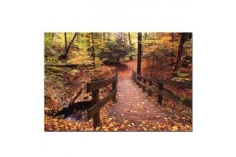 (16x24) - Autumn Bridge by Kurt Shaffer, Canvas Art - 41cm x 60cm