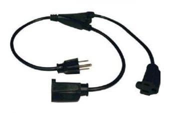 Tripp Lite 0.3m 18awg Power Y Cord Nema 5-15p To 2xnema 5-15r Black
