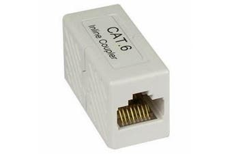 Black Point Products BT-223 White Cat 6 8C In-Line Coupler, White
