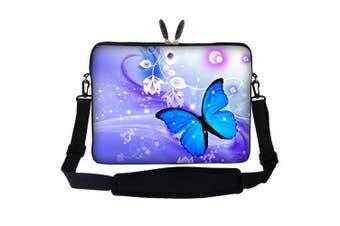 Meffort Inc 17 44cm Laptop Sleeve Bag Carrying Case with Hidden Handle and Adjustable Shoulder Strap - Flyaway Butterfly Design