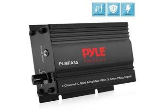 Pyle PLMPA35 2-Channel 300-Watt Mini Amplifier with 3.5mm Input
