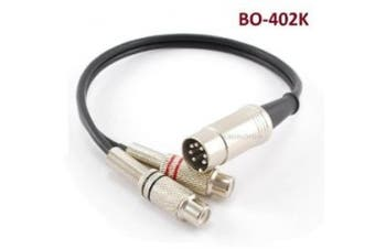 CablesOnline 0.3m 7-Pin Din Male to 2-RCA Female Audio Cable for Bang & Olufsen, Naim, Quad...Stereo Systems (BO-402K)