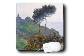 BLN Claude Monet Collection - Church at varengeville, Church on the Cliff by Claude Monet, 1882 - Mouse Pads