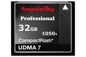 (32GB UDMA 7 1050X) - KOMPUTERBAY 32GB Professional COMPACT FLASH CARD CF 1050X WRITE 100MB/S READ 160MB/S Extreme Speed UDMA 7 RAW 32 GB