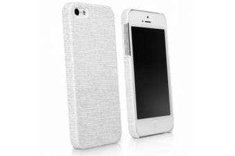 (iPhone 5 / 5s, White) - BoxWave Apple iPhone 5 Digital Glitz Case - Slim-Fit Back Cover Case with a Glitter Pattern Design - Apple iPhone 5 Cases and Covers