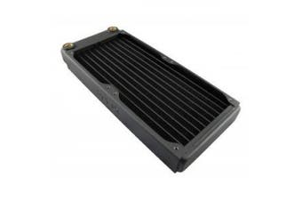 (240mm, Black) - XSPC EX240 2 x 120mm, Dual 120mm Low Profile Split Fin Copper Radiator - Black