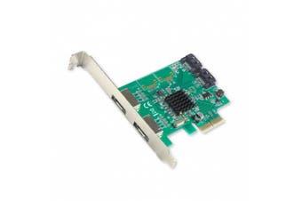 (4-port, SI-PEX40063) - IO Crest SATA III 2 Port Internal and 2 Port eSATA III PCI-e 2.0 x 2 Controller Card with Low Profile Bracket (SI-PEX40063)