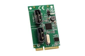 (2-port, Non RAID SATA) - Syba 2 Port SATA III Mini PCI-e Pci-express Card full size Components Other SD-MPE40056