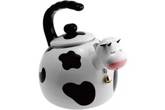 (White & Black) - Supreme Housewares - Whistling Tea Kettle, Cow