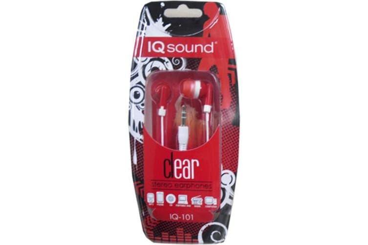 (red) - IQ Sound - Digital Stereo Earphones