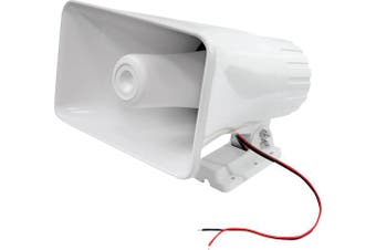 PYLE PHSP5 20cm 65W 8-Ohm Indoor & Outdoor PA Horn Speaker White 65 Watts