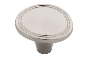 Brainerd Satin Nickel 36mm Double Pinstripe Knob, P17887V-SN-C