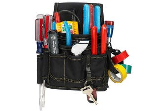 (9 POCKET) - Custom Leathercraft 1503 9-Pocket Electrical and Maintenance Pouch