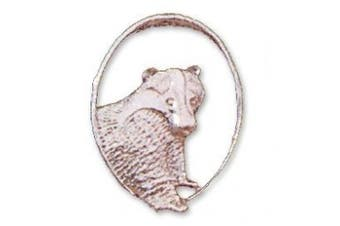 Sterling Silver badger brooch