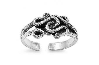 Toe Ring Sterling Silver Snake