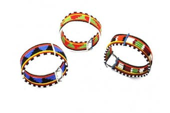 Katangi Handcrafts Traditional 10 line Maasai Beaded Bracelet