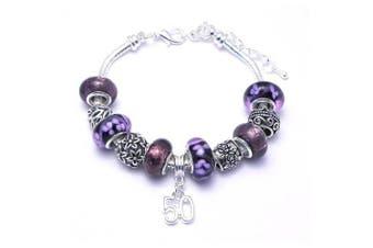 50th Birthday Charm Bracelet Women's Pandora Style