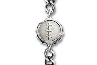 SOS Talisman Gents Sterling Silver Snake & Staff Bracelet