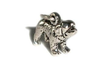 Charm Pendant Dog St. Bernard 925 Sterling Silver