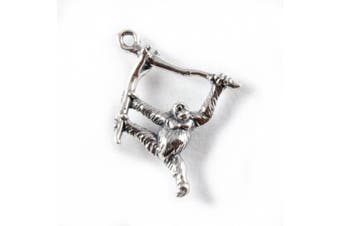 3D 925 Sterling Silver Charm - Orangutan - FREE UK POSTAGE
