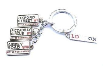 Oxford Street Piccadilly Circus Abbey Road London Handbag Charm Keyring Key Ring Chain