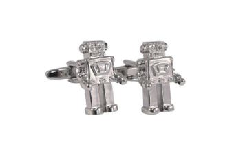 Retro Robot Cufflinks in Gift Box
