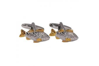 Two Tone Carp Fish Cufflinks in Gift Box