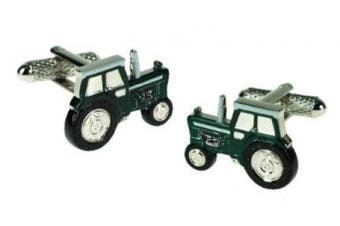 Green Tractor Cufflinks in Gift Box Farming - Onyx-Art London CK647