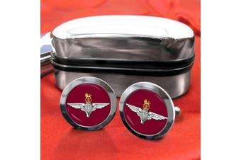 The Parachte Regiment (Paras) Mens Cufflinks with Chrome Gift Box