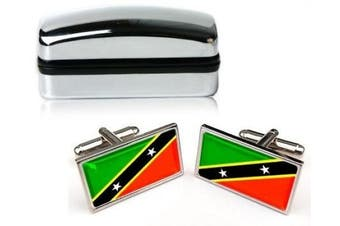 St Kitts Mens Cufflinks with Chrome Gift Box