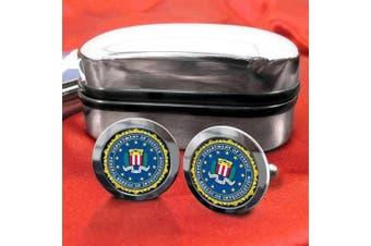 FBI Mens Cufflinks with Chrome Gift Box