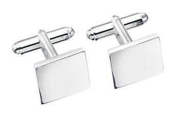 Solid Square Silver Cufflink Set
