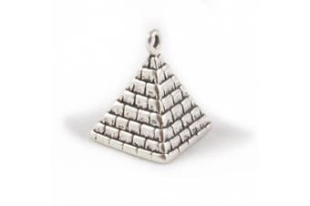 925 Sterling Silver Charm - Pyramid Of Egypt - FREE UK POSTAGE