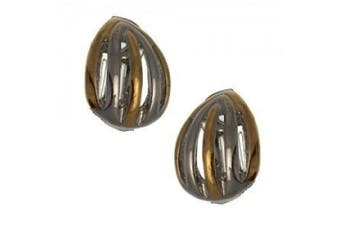 Melody Silver & Gold Clip On Earrings