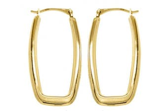 Carissima Gold 9ct Yellow Gold Rectangular Creole Earrings