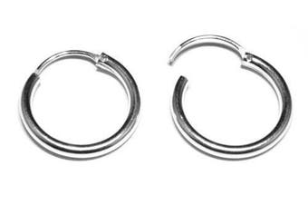 16 mm Diameter Hinged Heavy Weight Hoops - Genuine 925 Sterling Silver