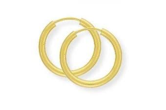 9ct Gold Sleeper Earrings- 14mm