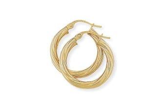 Twist Hoop Earrings in 9Ct Gold 20x22mm