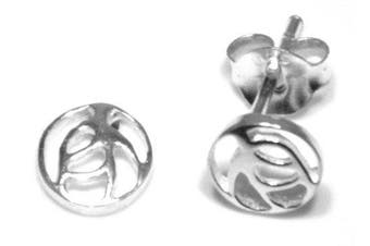 Rennie. Glasgow Rose (6mm across) Stud Earrings - Genuine 925 Sterling Silver
