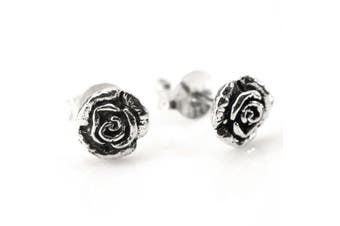Sterling silver 925 rose flower studs earrings set pair by 81stgeneration