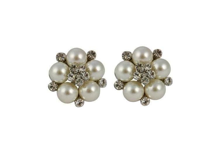 Audrey Hepburn Clip On Pearl Earrings (Cream)