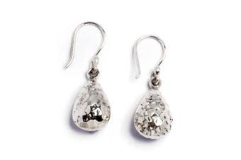 Cavendish French - Beaten sterling silver teardrop earrings