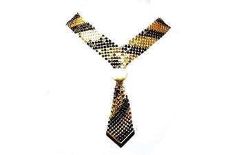 Black Gold Mesh Tie Fancy Dress Choker Necklace Fashion Jewellery