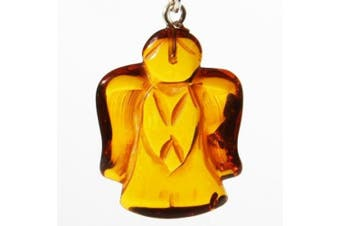 Romantic Baltic Amber ANGEL Pendant with sterling silver fittings. Capture the warmth of Amber. Comes with lovely gift box.