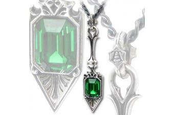 Alchemy Gothic SUCRE VERT ABSINTHE SPOON Pendant with. Crystal P607