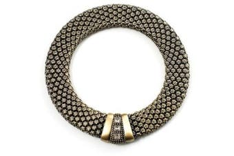 Avalaya Vintage Style Wide Mesh Magnetic Choker (Bronze Tone)