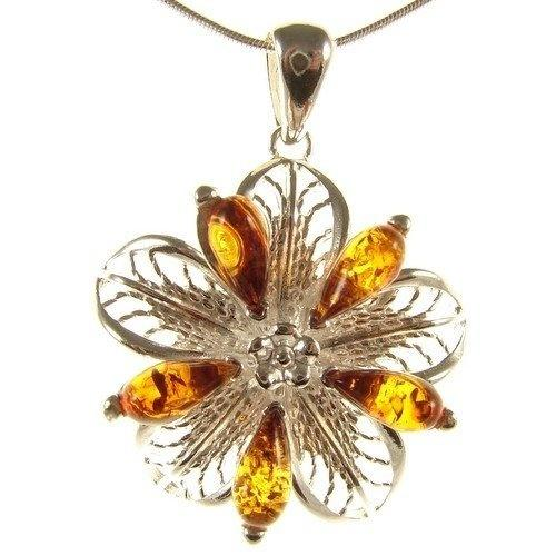 BALTIC AMBER AND STERLING SILVER 925 DESIGNER COGNAC MOUSE PENDANT JEWELLERY JEWELRY NO CHAIN