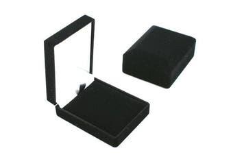 Velvet Pendant / Drop Earring Box - Black